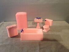 Vintage Renwal Pink Doll House Bathroom