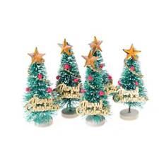 Mini Snow Christmas Tree Decor For Home Supplies Pine Trees Christmas Decoration
