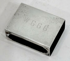 Vintage WGGG Radio Station STERLING SILVER Match Box Holder GAINESVILLE FLORIDA