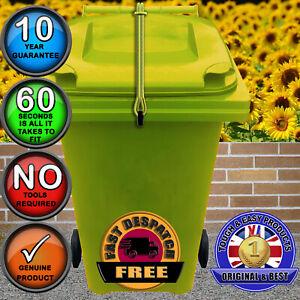 Wheelie Bin Lid Lock Strap, NO DRILLING, Keep Lid Shut in Strong Wind-in Yellow