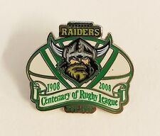 33410 CANBERRA RAIDERS EST 1982 NRL CENTENARY 1908-2008 METAL LAPEL PIN BADGE