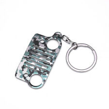 For Jeep Grill Stainless Steel Key Chain Key Ring CJ JK TJ YJ XJ Camouflage