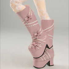 Dollmore 1/4 BJD Scale Size  MSD - French Ribbon Boots (Pink) shoes