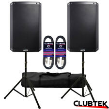 "2 x Alto TS315 15"" Active 4000W Powered Speakers + FREE Stands Bag Leads UK"