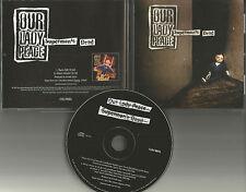 OUR LADY PEACE Superman's Dead  w/ RARE EDIT PROMO DJ CD Single w/PRINTED LYRICS