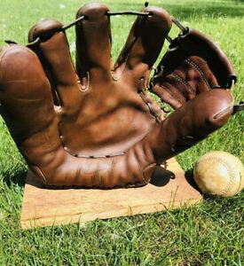 Vtg Antique Lefty Rawlings Harvey Haddix HH The Kitten 1950s Baseball Glove Old