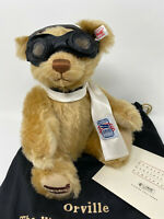 Steiff ORVILLE THE WRIGHT BROTHERS BEAR 667022 MOHAIR - NORTH AMERICAN EXCLUSIVE