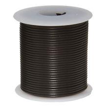 "24 AWG Gauge Solid Hook Up Wire Black 100 ft 0.0201"" UL1007 300 Volts"