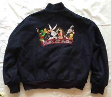 Vintage WB WARNER BROTHERS That's All Folks Looney Tunes Varsity Jacket Large