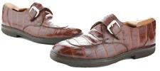 Avventura RARE Vintage Mens Genuine Alligator Monk Strap Shoes Size 9 VGUC