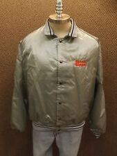 Vtg NEW Silver Grey Capricorn Satin Speed Queen Embroidered Bomber Jacket XXL