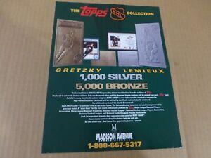 TOPPS Collection  Brochure  Wayne Gretzky & Mario Lemieux   11 x 8.5