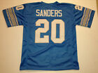 Внешний вид - UNSIGNED CUSTOM Sewn Stitched Barry Sanders Blue Jersey - M, L, XL, 2XL, 3XL