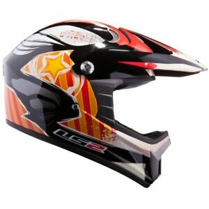 LS2 MX426 JUNIOR MOTOCROSS NASTY HELMET BLACK ORANGE SMALL