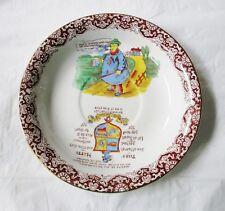"8"" British Anchor Pottery YORK TYKE Shallow Bowl, Motto Ware, c. 1891-1913"