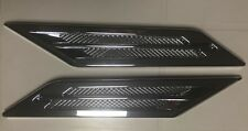 SET OF 2 CADILLAC CTS STYLE UNIVERSAL CHROME SIDE FENDER VENT LEFT&RIGHT EMBLEM
