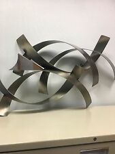Abstract stainless steel wall sculpture by Curtis Jere  by C. Jeré signed 1983