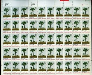 South Carolina Statehood Sheet of Fifty 25 Cent Postage Stamps Scott 2343