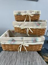 Disney Classic Winnie The Pooh Removable Cloth Lined Baskets Set Of 3