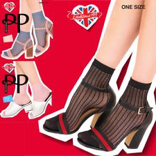 rosso o blu Onorevoli a Rete Calze alla Caviglia LANA MISURA 4-8 in bianco