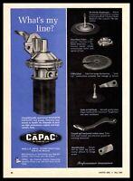 1966 CAPAC Wells Mfg. Corp Fond Du Lac WI Maximum Capacity Fuel Pumps Print Ad