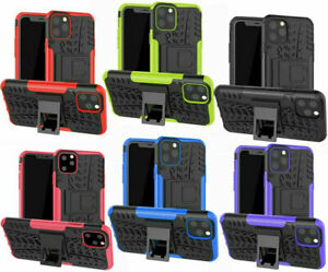Shockproof Rugged Hard Duty Stand Armour Tyre Case Cover Apple iPhone SE 12 11 X
