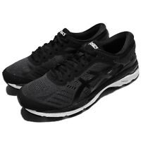 Asics Gel-Kayano 24 Black White Men Running Training Shoes Sneakers T749N-9016