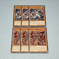 Yugioh 3x Unchained Twins Aruha + 3x Rakea CHIM 1st Edition Rare Card Playset NM