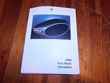 2000 PORSCHE BOXSTER S 911 CARRERA 2001 911 TURBO INTRO PRESS KIT W PHOTOS SLID