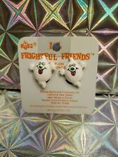 Russ Frightful Friends Ghost Clip On Earrings 18 karat Gold Plated Clips