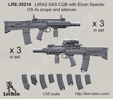 Live Resin 1/35 LRE-35214 L85A2 SAS CQB w/Elcan Specter OS 4x Scope & Silencer