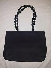 Salvatore Ferragamo Purse Shoulder Bag Black Nylon Medium Sized W Bead  Metallic 05437763fe5d4