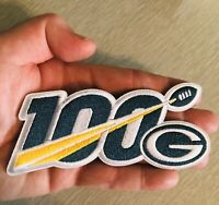 "2019 100th ANNIVERSARY SEASON GREEN BAY PACKERS NFL SHIELD PATCH 5"" 100 IRON ON"