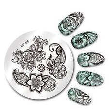 Nail Art Stamping Platte - Nail Schablone Stempelschablone Nailart Rosen #N1