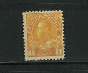CANADA-MNH-K.G.V ADMIRAL ISSUE 1c DIE 1 #105 F/VF  YELLOW SEE PHOTO