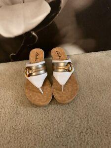 Clarks Multi Color Wedge Sandals Sz.8M