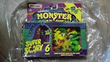 Vintage Boxed Monsters In My Pocket Super Scary 6 Figures plus 3 extra