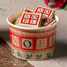 FESTIVE NOEL - Nordic Christmas TREAT TUBS/Small Bowls-Xmas Party- RANGE IN SHOP