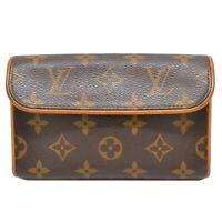 Louis Vuitton Pochette Florentine M51855 Monogram Canvas Bag Pouch France LV