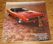 Original 1970 Plymouth Barracuda Deluxe Sales Brochure 70 Gran Coupe Cuda