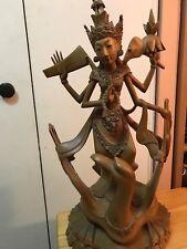 "Indonesian GODDESS Carved Wood Statue BALI 25"" high"