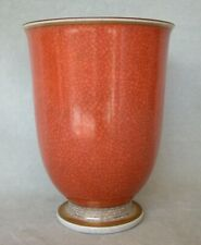 Vintage Royal Copenhagen Orange/Gray Crackle Glaze Vase Thorkild Olsen 2731 adx