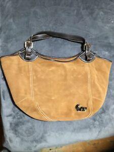 """Dooney & Bourke Tan Suede Leather XL """"Valerie"""" Hobo"""