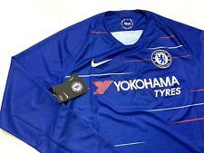 Nike Men's 2018/19 Blue Chelsea Home Long Sleeve Stadium Jersey Large L