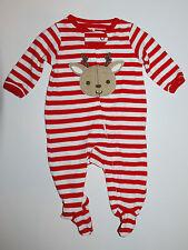 Pijama ~ estados unidos ~ 50-56 ~ mamelucos ~ a rayas ~ navidad ~ Carter's ~ algodón ~ Reno