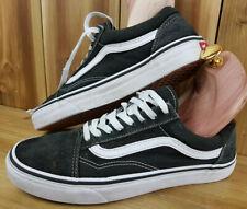 Vans Old Skools Trainers UK 7 Skateboarding Shoes Skater Unisex Black Suede 5074