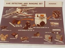"HUGHES AIRCRAFT A-6E Detecting and Ranging Set DRS color photograph 8""x 10"""