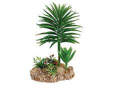 Desert Plant with Rock Base Reptile Terrarium Vivarium Ornament Decoration