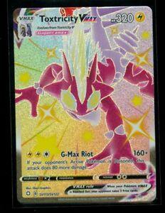 Pokemon SHINY TOXTRICITY VMAX SV113/SV122 Shining Fates HYPER RARE FULL ART MINT