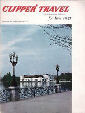 PAN AMERICAN CLIPPER INFLIGHT MAGAZINE JUNE 1957 AM PAA